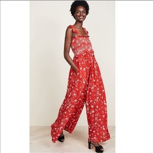 Free people NWT Color My World jumpsuit
